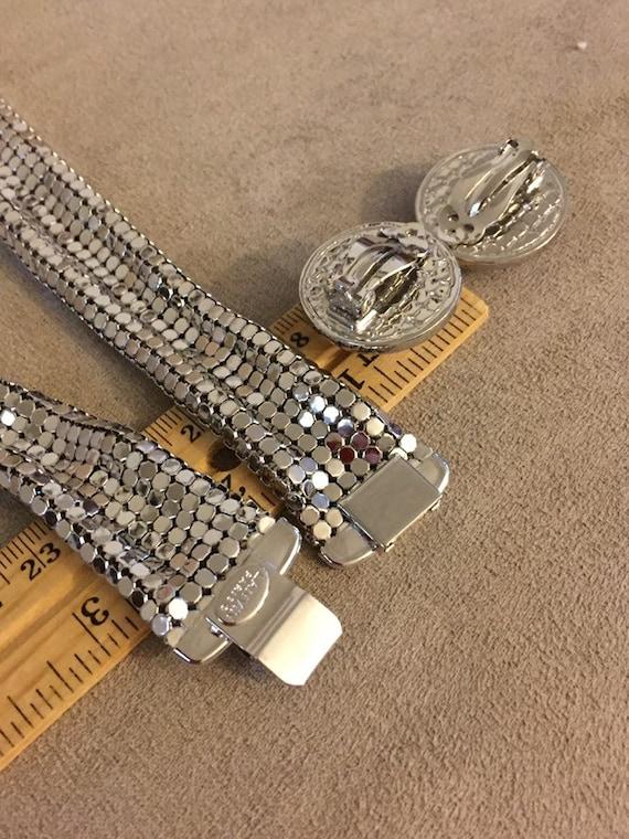 Rare set Vintage French Lanvin collar Mesh neckla… - image 5