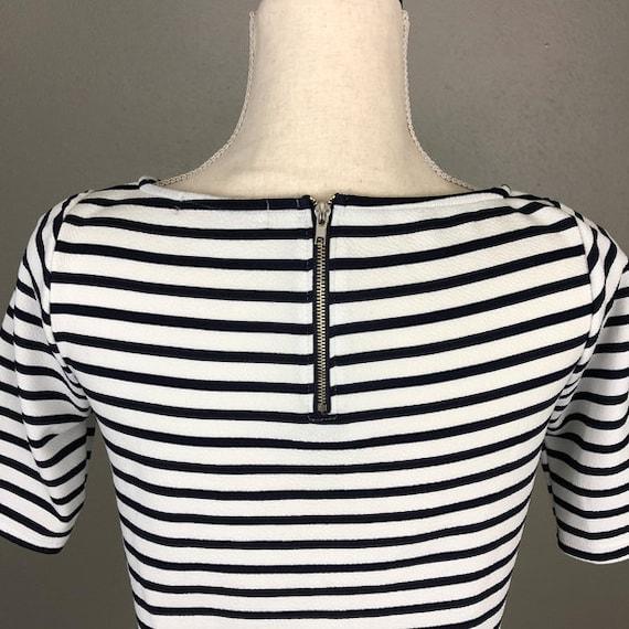 Brigitte Bardot's Style Vintage Zipper Back Stripe