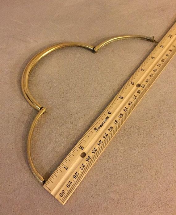 Vintage 1970's Lanvin collar necklace Chocker cle… - image 3