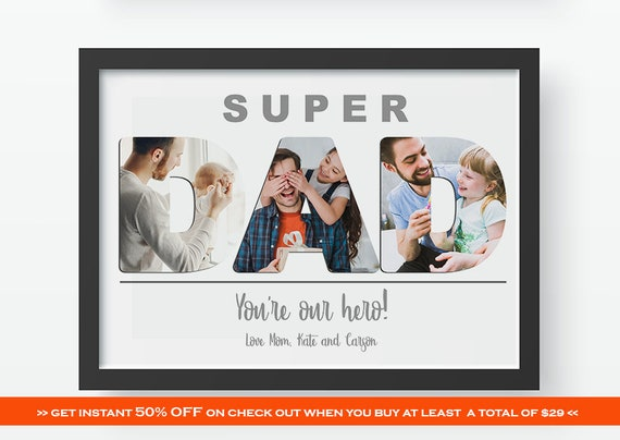 6b71b6cbdab1 Fathers Day Gift Printable Personalized Custom Fathers Day