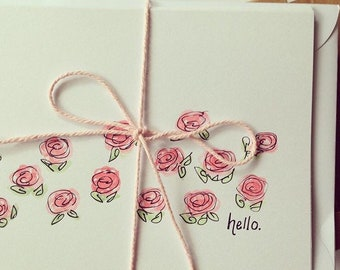 Customised Handpainted Cards (Pack of 10)