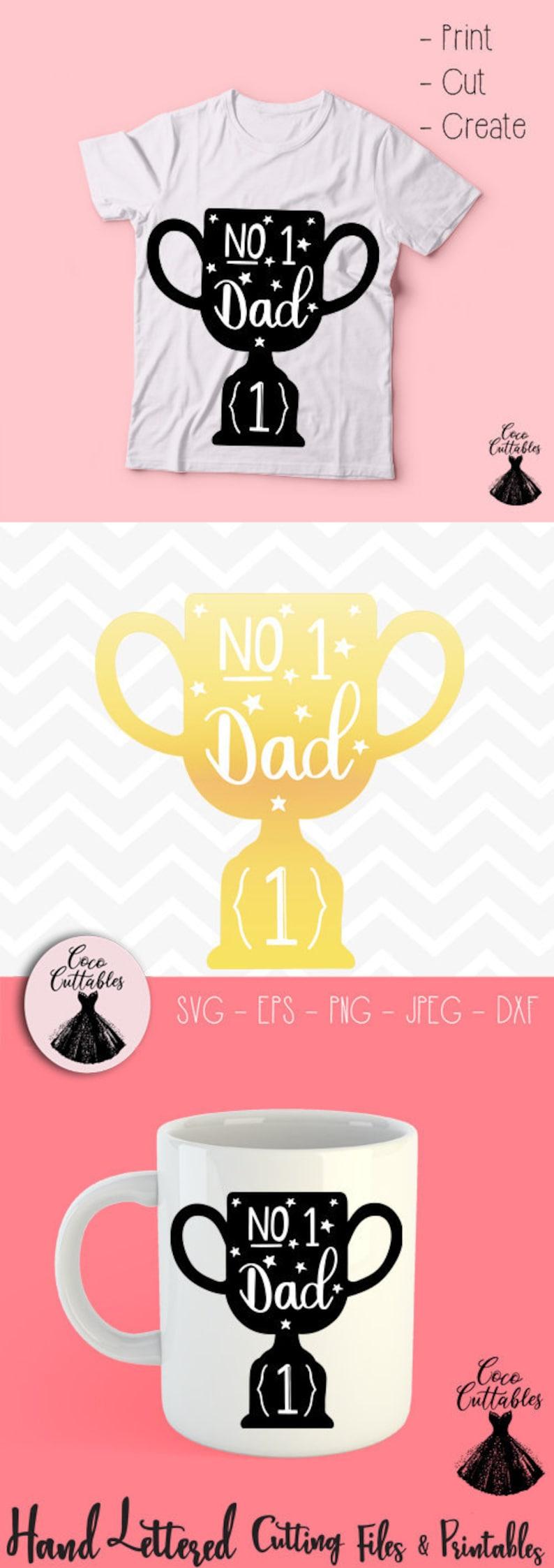 Number One Dad Svg Number 1 Dad Trophy Svg Cut File Fathers Etsy