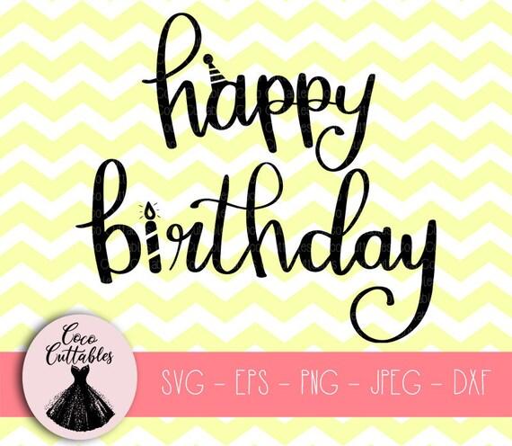 Happy Birthday Svg Birthday Party Svg Birthday Banner Svg Etsy