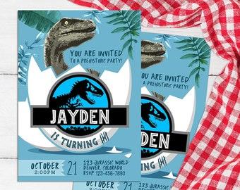 Jurassic World Invitation, Jurassic World Birthday, Jurassic Park Party, Dinosaur Invites, Jurassic Printable, Jurassic Movie Card