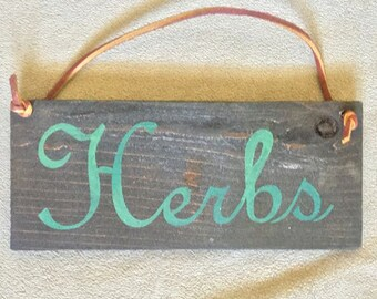 Herbs Small Hanging Sign