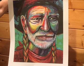 Willie Art Poster Hand-Signed by Artist