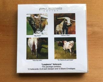 Longhorns - Notecards