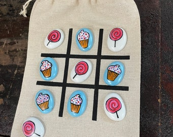 """Tic Tac Toe To Go """"Cupcakes & Lollipops"""""""