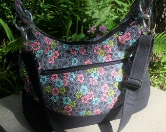 Hobo Shoulder Bag with Matching Key Fob