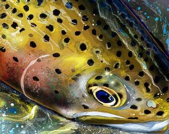 FishWear Designs 8x8 Inch Indigo Art Prints Sale