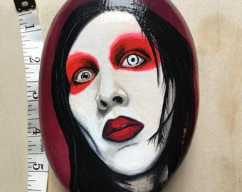 MMarilyn Manson rock painting