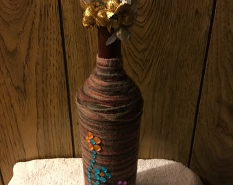 Yarn wrapped bottle
