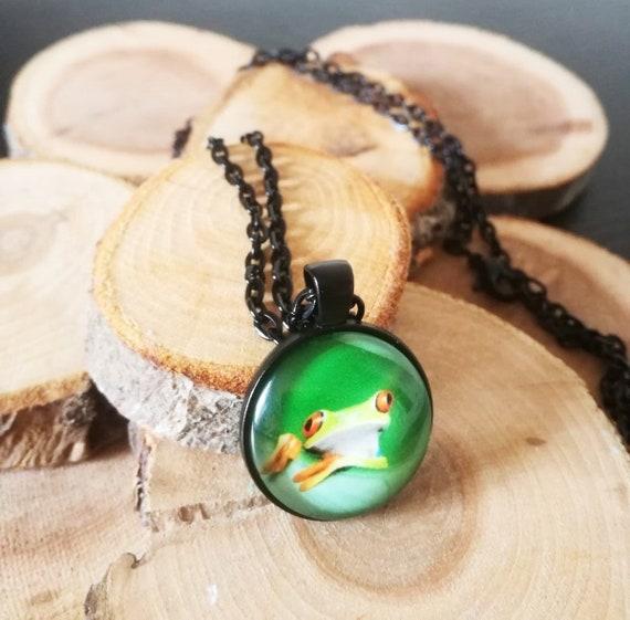 inch bird necklace Black Glass Cabochon Necklace chain Pendant Wholesale