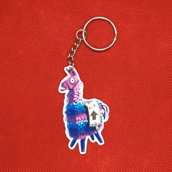 Fortnite Loot Llama Keychain Sticker Collectible Etsy