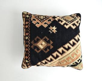 Vintage Black Southwestern Pillow