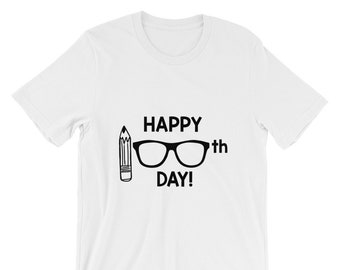 Happy 100th Day Teacher Tee