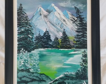 One-of-a-kind acrylic canvas painting