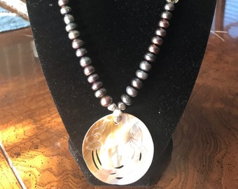 Mabe Pearl Pendant Necklace