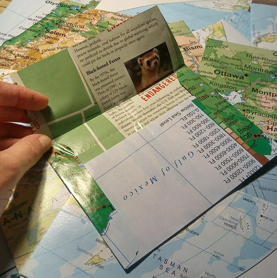 A2 Envelope Set featuring maps, envelopes for pen pals, snail mail letter  writers, and stationery addicts