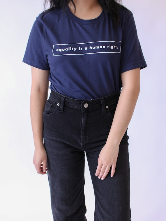 Equality is a Human Right Tee NAVY Gender Equality T Shirt Human Rights Feminist Feminism Equal Rights Shop Feministé