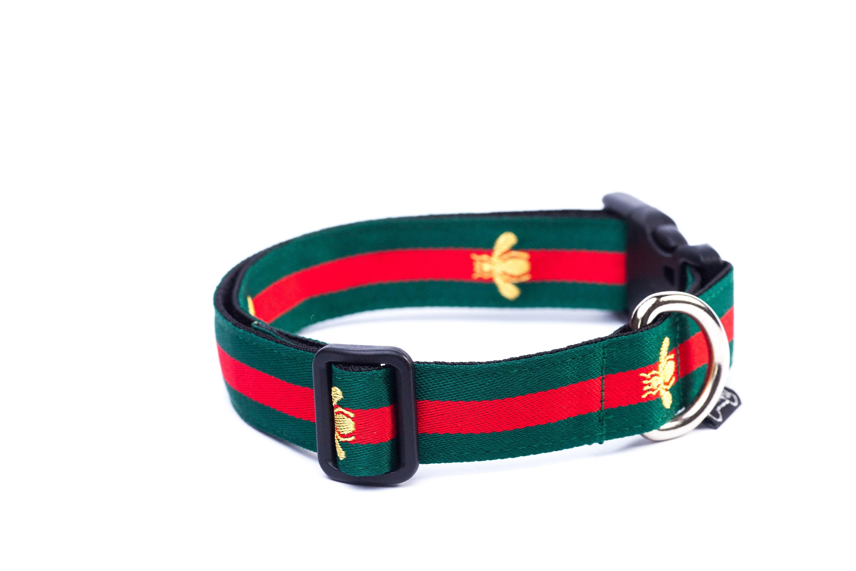 7113d09ba915b9 Dog Collar Bee Dog Collar Green Dog Collar Inspired by
