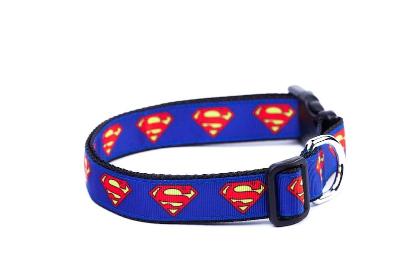 Superman Collier Pour Chien Collier Pour Chien Super Héro Etsy