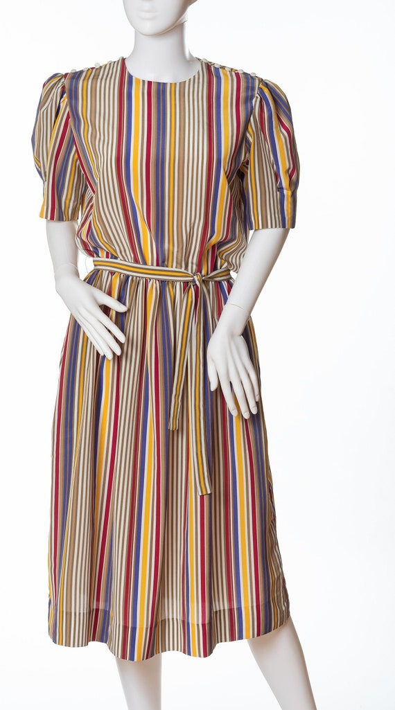 Vintage Executive Dress by Albert Nipon, Multicolo