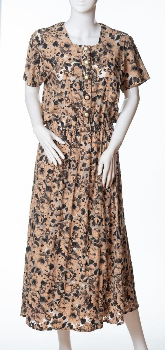 Very 1980s Vintage Floral Dress