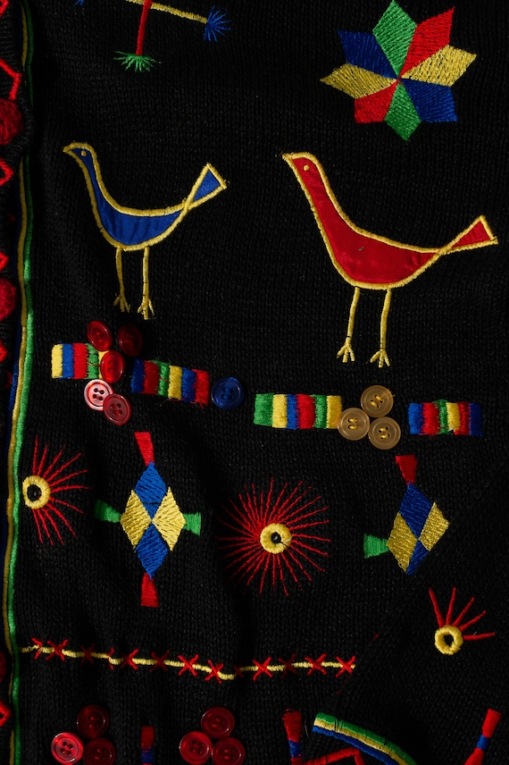 Vintage Bonnie and Bill by Holly Colorful Cardigan - image 5