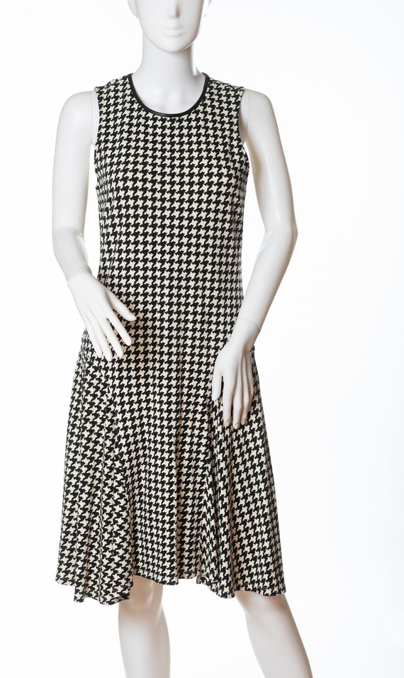 Lauren Houndstooth Dress, Ralph Lauren Sleeveless… - image 1