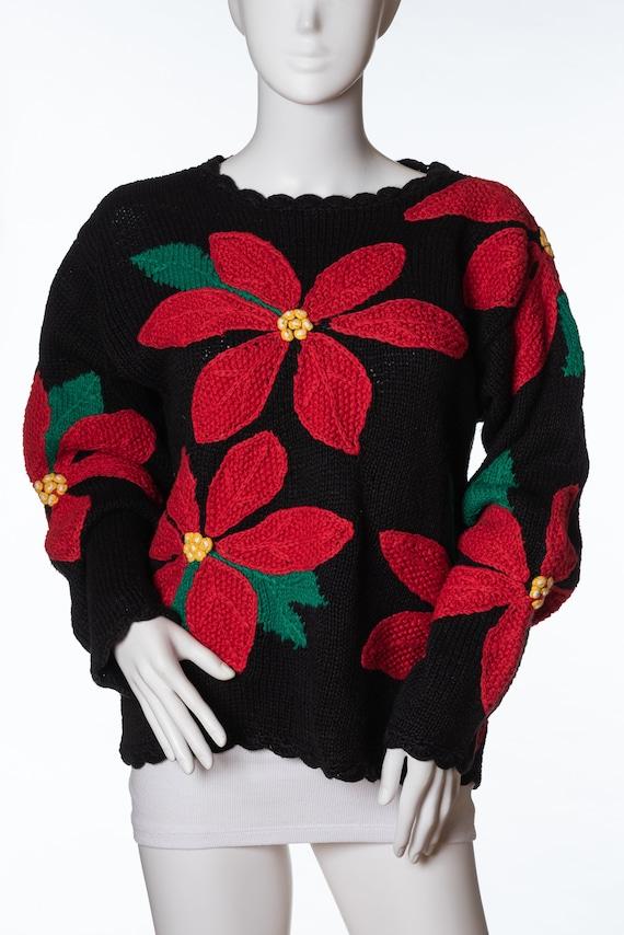 Vintage Heirlooms HandKnit Sweater Ugly Christmas