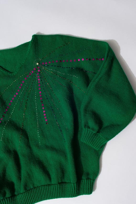 Gorgeous Vintage Green Sweater