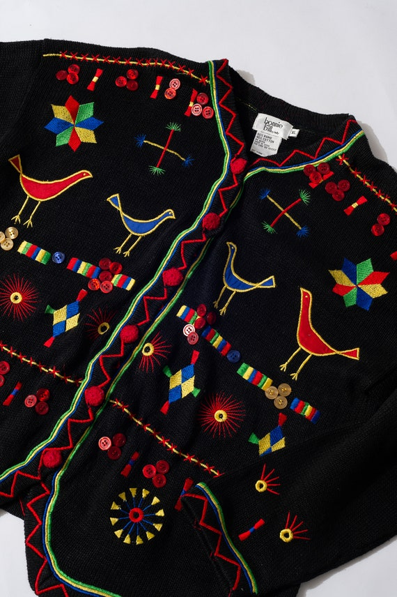 Vintage Bonnie and Bill by Holly Colorful Cardigan - image 3