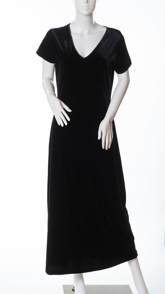 Vintage Express Tricot Black Dress, Vintage Black