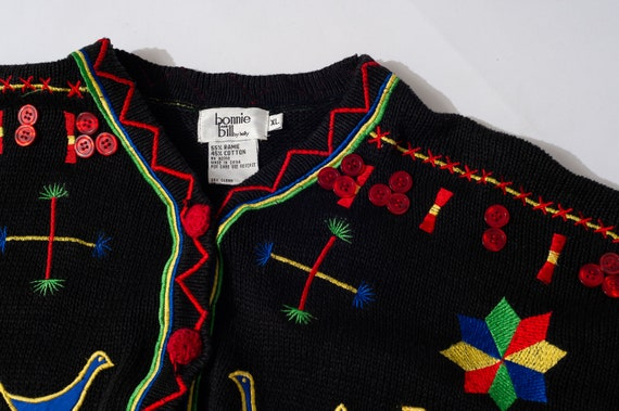 Vintage Bonnie and Bill by Holly Colorful Cardigan - image 4