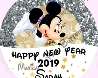 disney new year buttons disney new year pins 2019 mickey new year buttons disney pins disney buttons minnie new years party favors