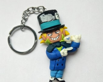 doll mad hatter-key chain mad hatter-jervis tetch-chibi-llavero sombrereroloco