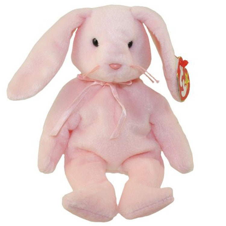 8fa4e593d40 Vintage Beanie Baby  HOPPITY the Pink Bunny 1996 MINT