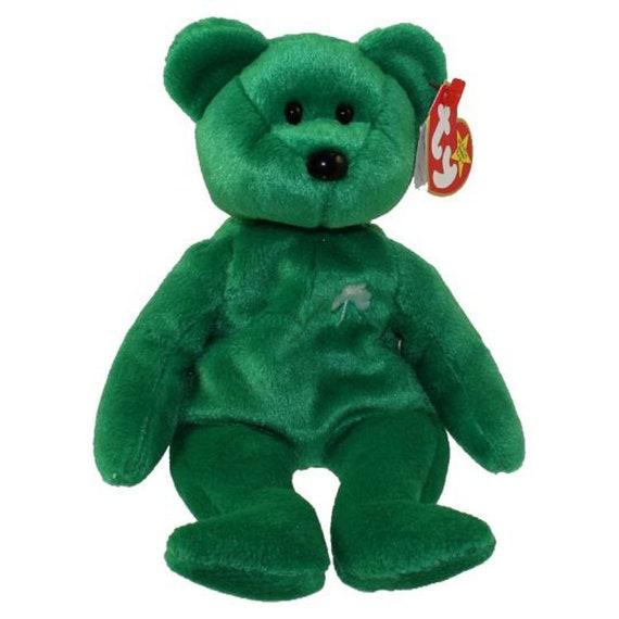 3805643941e Vintage Beanie Baby  TY Beanie Baby ERIN the Irish Bear 8.5