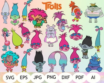 25 Trolls SVG, Trolls Clipart, Trolls Printable, Digital Item