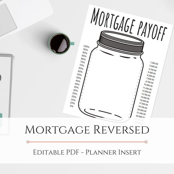 graphic about Mason Jar Printable titled Mason Jar Printable Property finance loan Tracker - Editable PDF - SP112