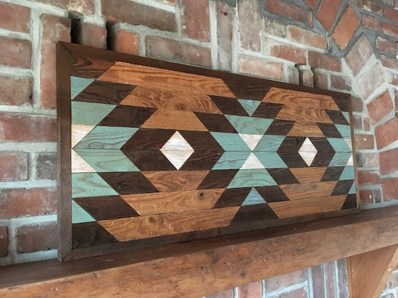 reclaimed wood wall art wood quilt wall art farmhouse | Etsy