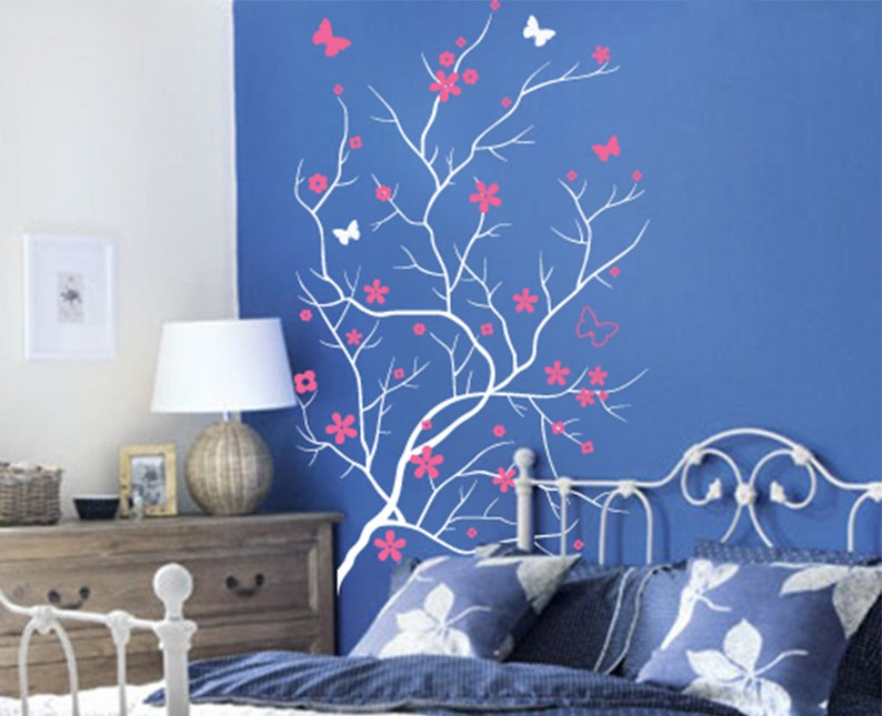 d6266c1a5b Butterflies Tree Decal Blooming Tree Vinyl Wall decal Wall | Etsy