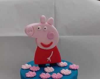 Peppa Pig Cake Topper Etsy
