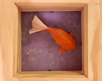 Origami Fish in a Frame