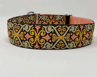 Embroidered Trim Limited Slip Dog Collar