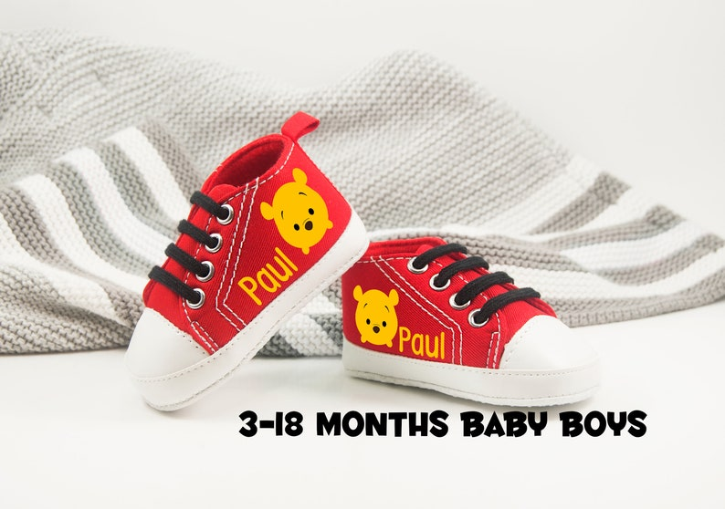 6773a2114e938 Winnie the pooh Outfit - Winnie the pooh Baby Shoes - Winnie the pooh  Birthday - Disney