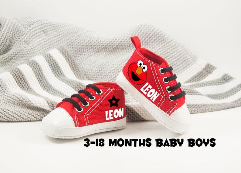 7febc7339a740 Elmo Birthday Outfit, Baby Boy Shoes, Personalized baby gift, Elmo Baby  Shoes, Elmo Birthday - Sesame Street