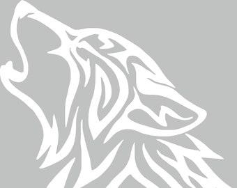 75c10f573 Tribal Wolf Decal - Wolf Decal - Tribal Wolf