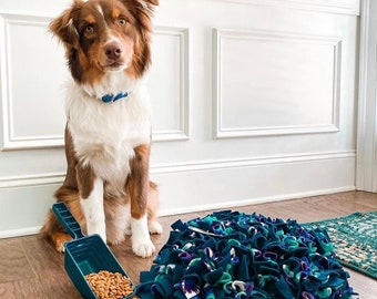 WASHABLE Dense 17x19 inch Custom Snuffle Mat/Dog Treat Puzzle/Rooting Mat/ Enrichment Toy/Reward Mat for Dogs/Feeding Mat/Dog Activity Mat